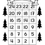 Exceptional Printable Countdown To Christmas 2020 In 2020