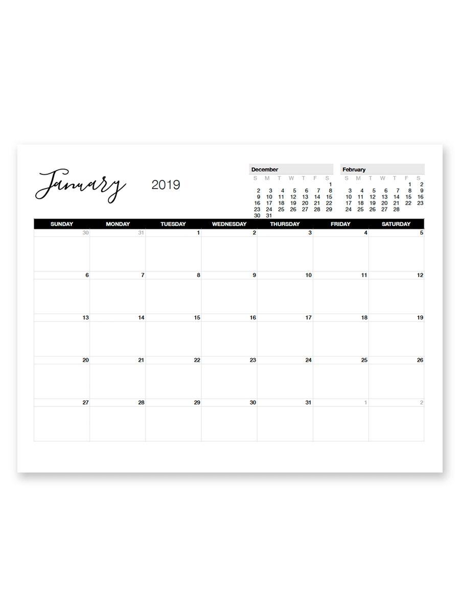 Free 8 5 X 11 Calendars