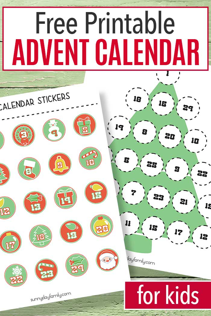 Free Printable Advent Calendar For Kids Sunny Day Family 1