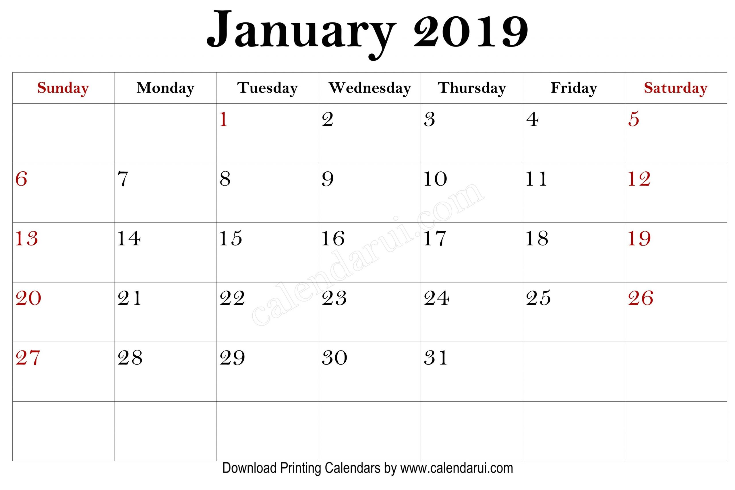 Free Printable Mini 2019 Calendars Best Quality Calendar