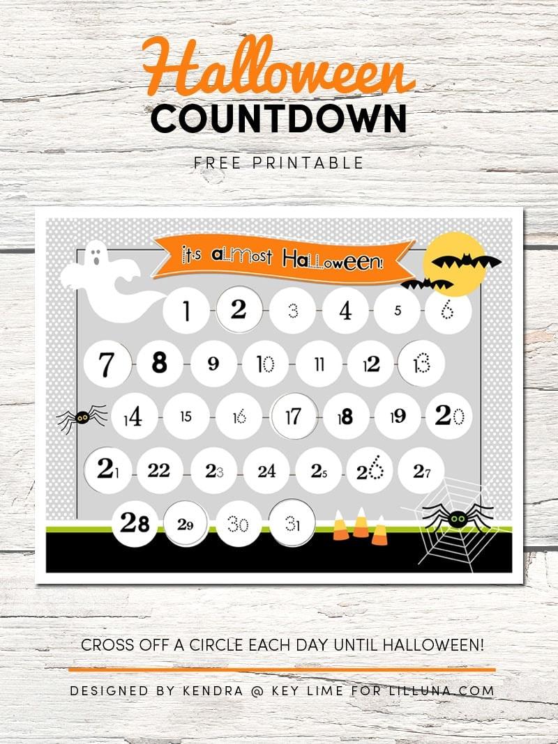 Halloween Countdown Printable 1