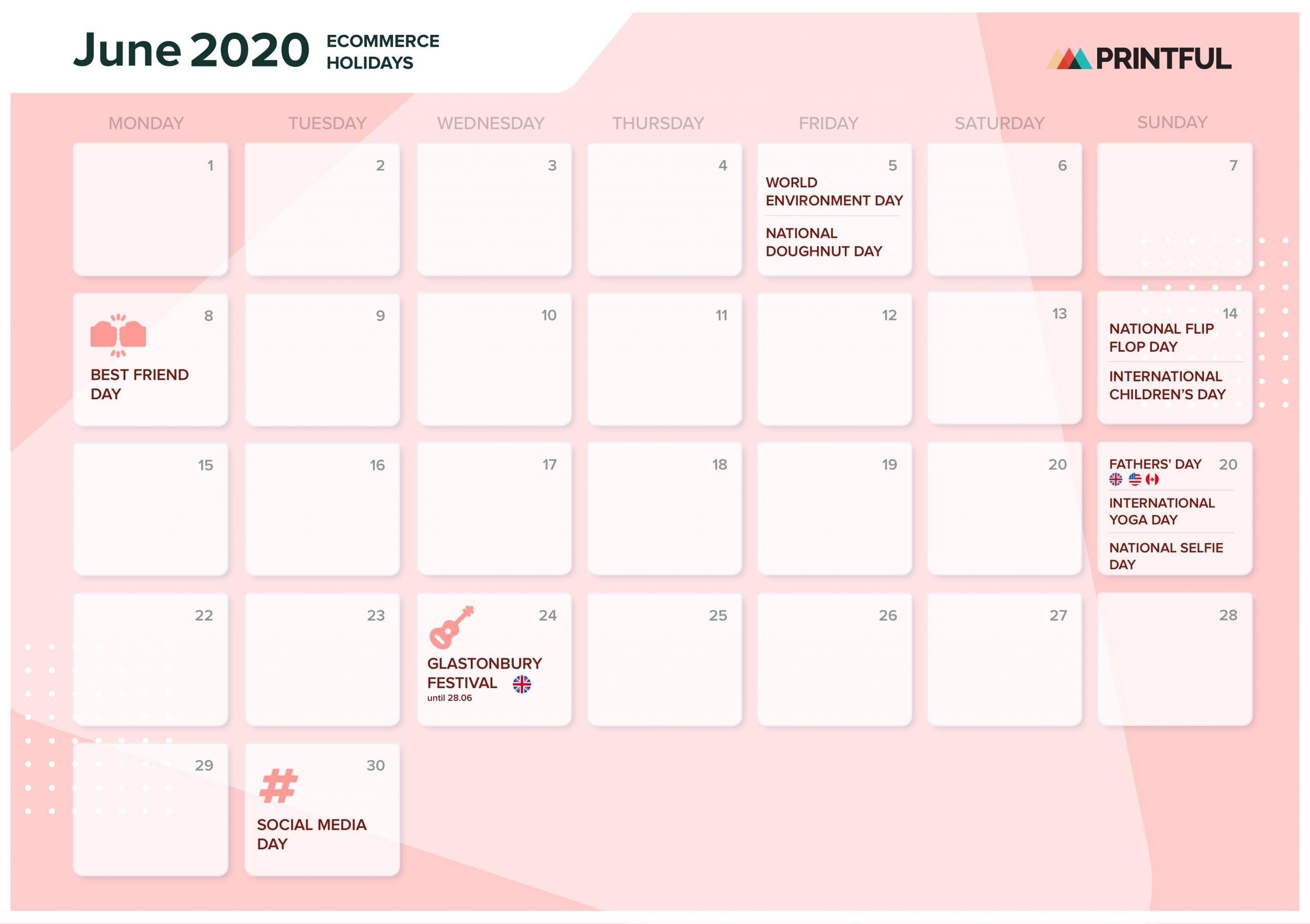 Holiday Countdown Calendar 2020 Free Calendar Template