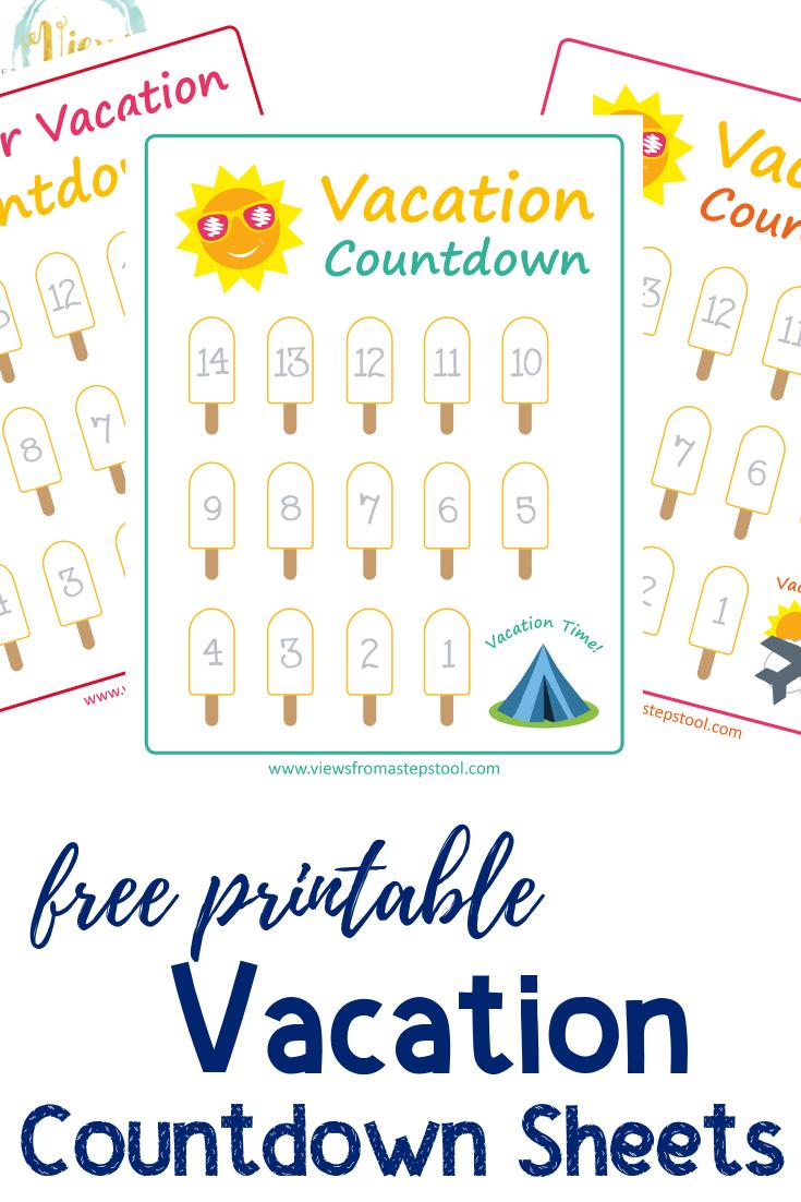 Holiday Countdown Printable Summer Example Calendar