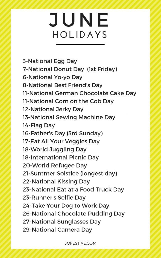 June Holidays 2021 Complete List Of Unique Holidays So