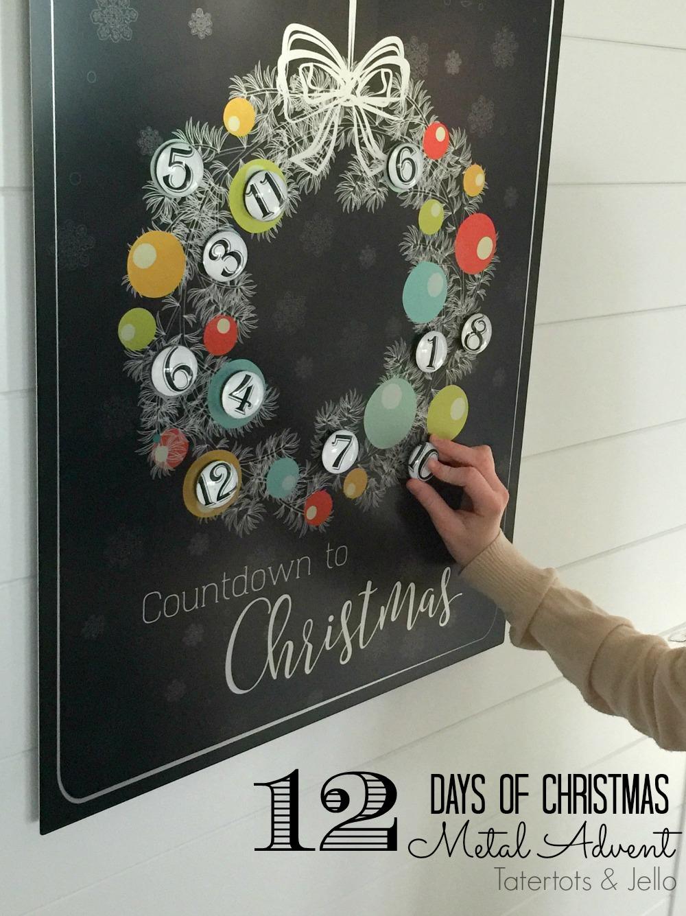 Metal Christmas Advent Countdown Calendar Free