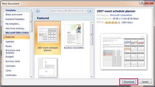 Microsoft Office 2010 Calendar Template Pdf Template