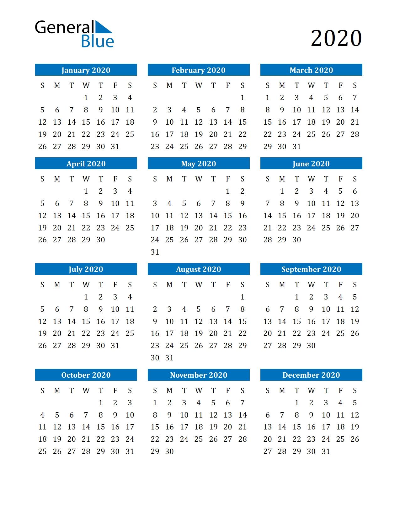 Microsoft Word Calendar Template 2020 Edit Calendar