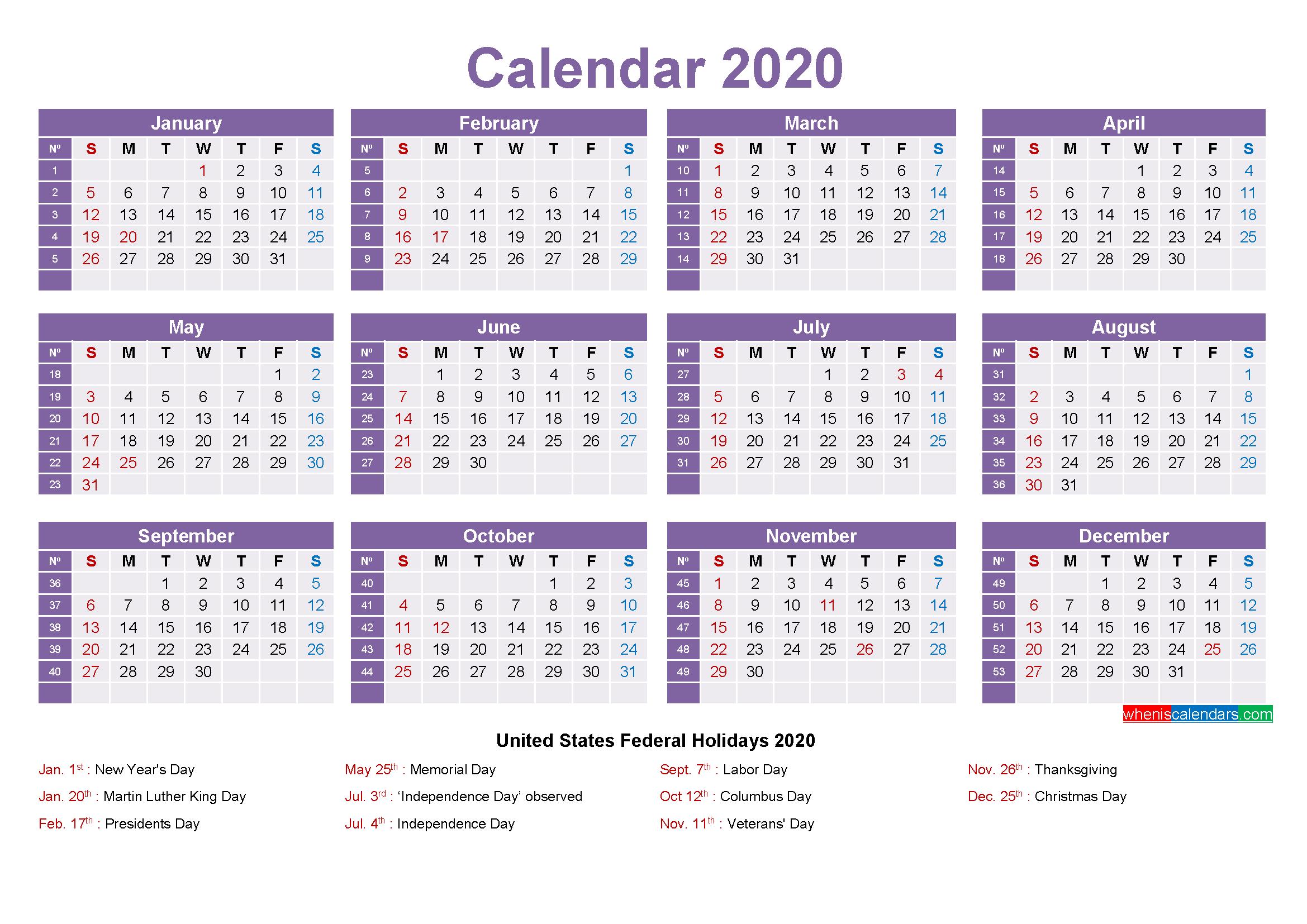 Mini Desk Calendar 2020 Free Printable Free Printable