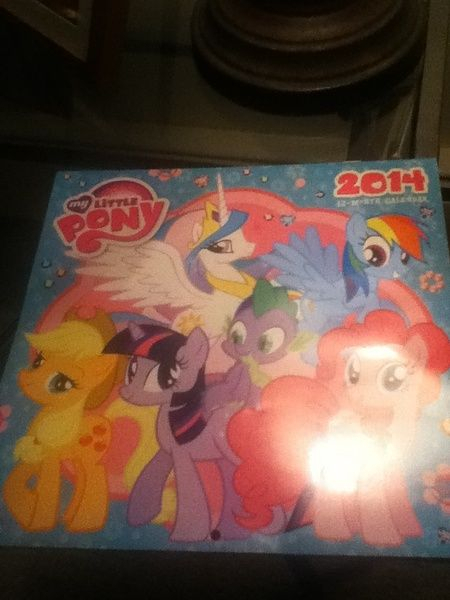 Mlp My Little Pony 12 Month Calendar 5mlp Cards And