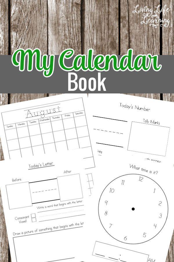 My Calendar Book Printable Calendar Book Homeschool