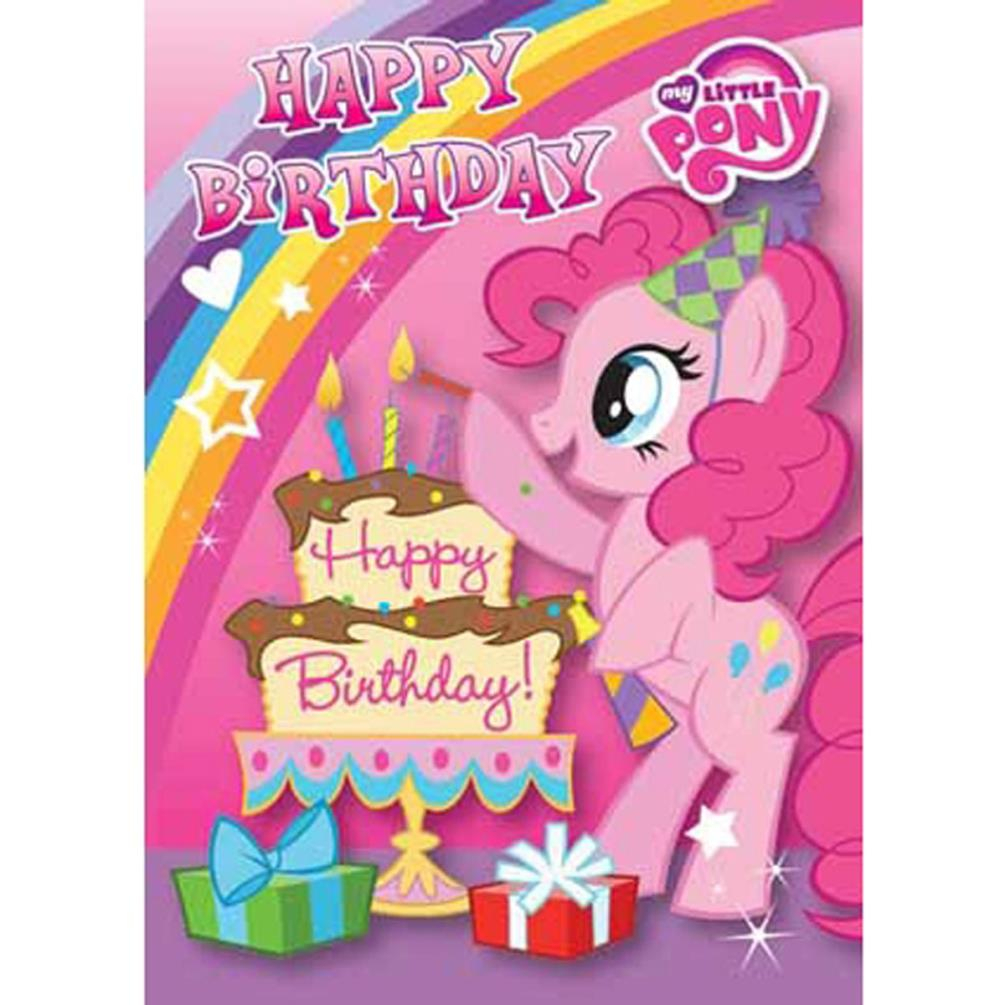 My Little Pony Happy Birthday Card Mp020 Character Brands