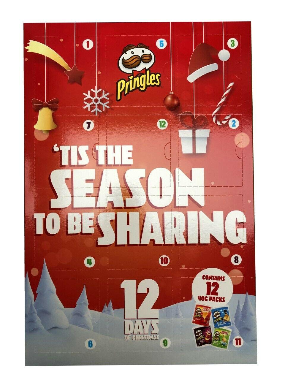Pringles 12 Days Of Christmas Advent Calendar 12 X 40g