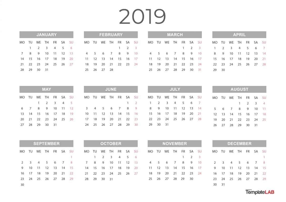 Print 5 Year Calendar Month Calendar Printable