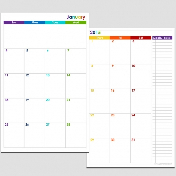 Printable 8 5 X 11 Calendar Printable Calendar Template 2021