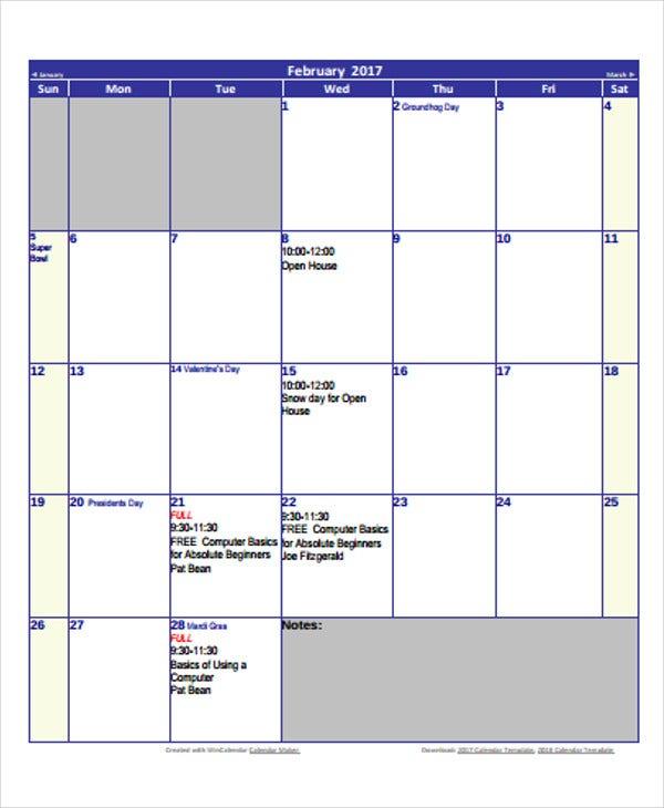Printable Blank Calendar Template 9 Free Word Excel Pdf Documents Download Free Premium