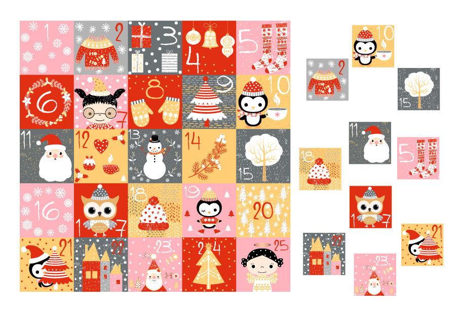 Printable Christmas Advent Calendar Countdown Numbers Cardspravokrugulnik Thehungryjpeg