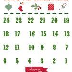 Printable Christmas Countdown Calendar 2020 Chrismastur
