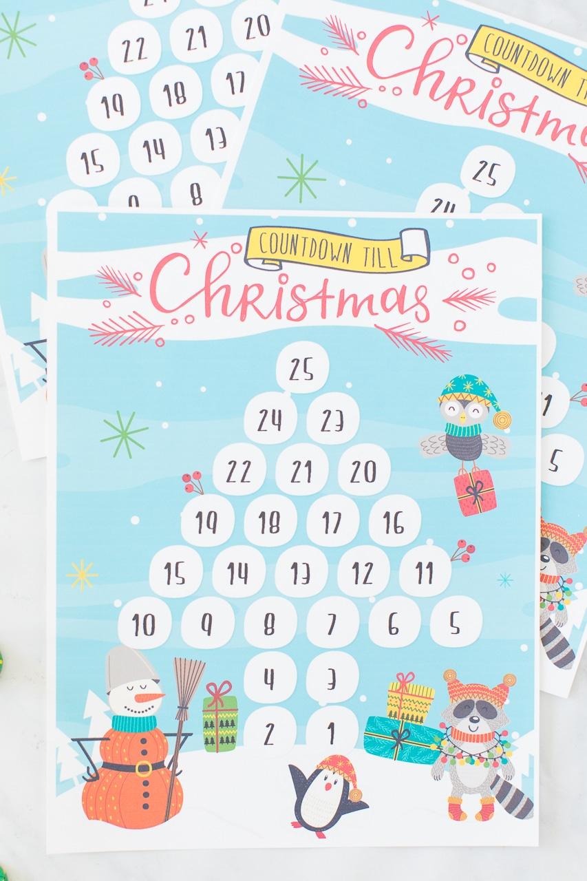 Printable Countdown Till Christmas Calendar Made To Be A Momma