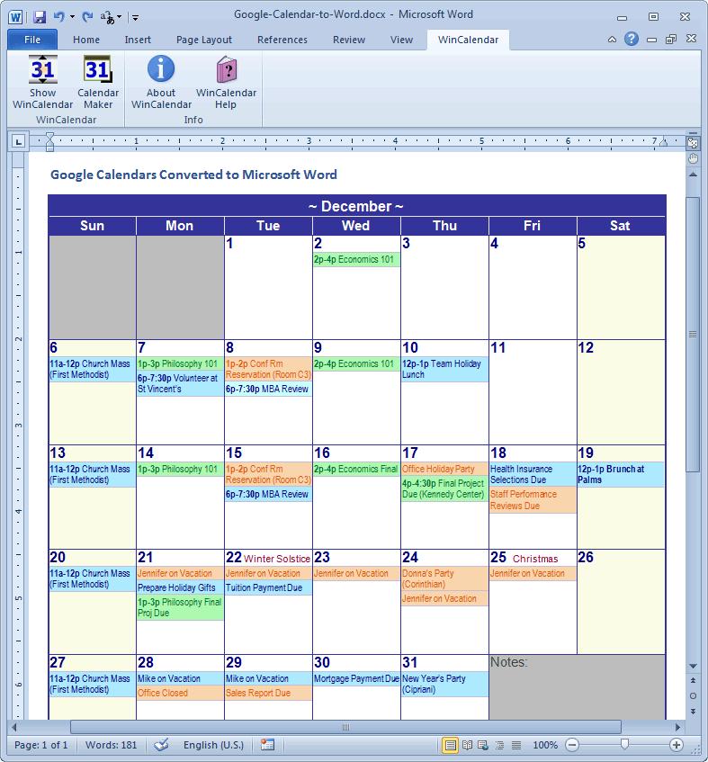 Printable Google Calendar Calendar Template 2021