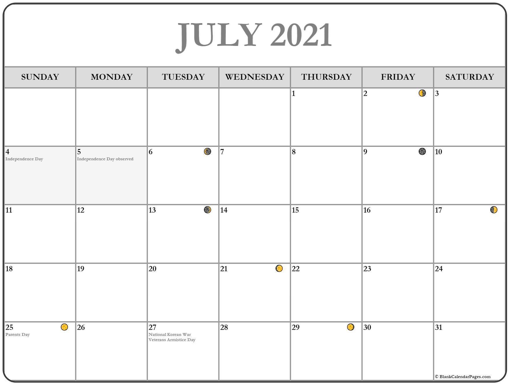 Printable Yearly Full Moon Calendar For 2021 Calendar