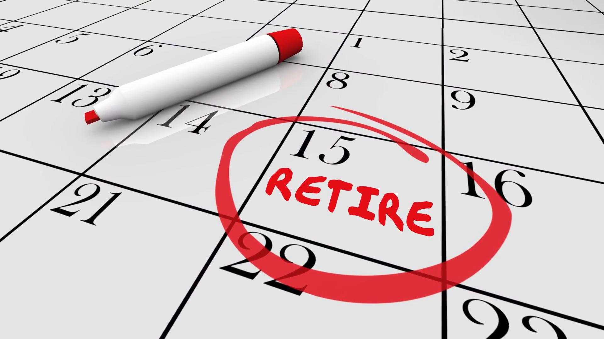 Retirement Day Date Circled Calendar Countdown Stop