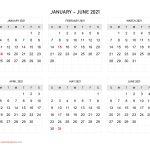 Six Months 2021 Calendar Calendar Quickly