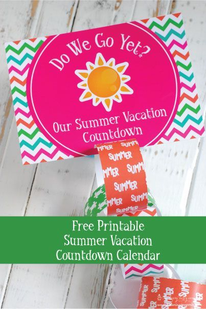 Summer Countdown Calendar With A Paper Chain To Count