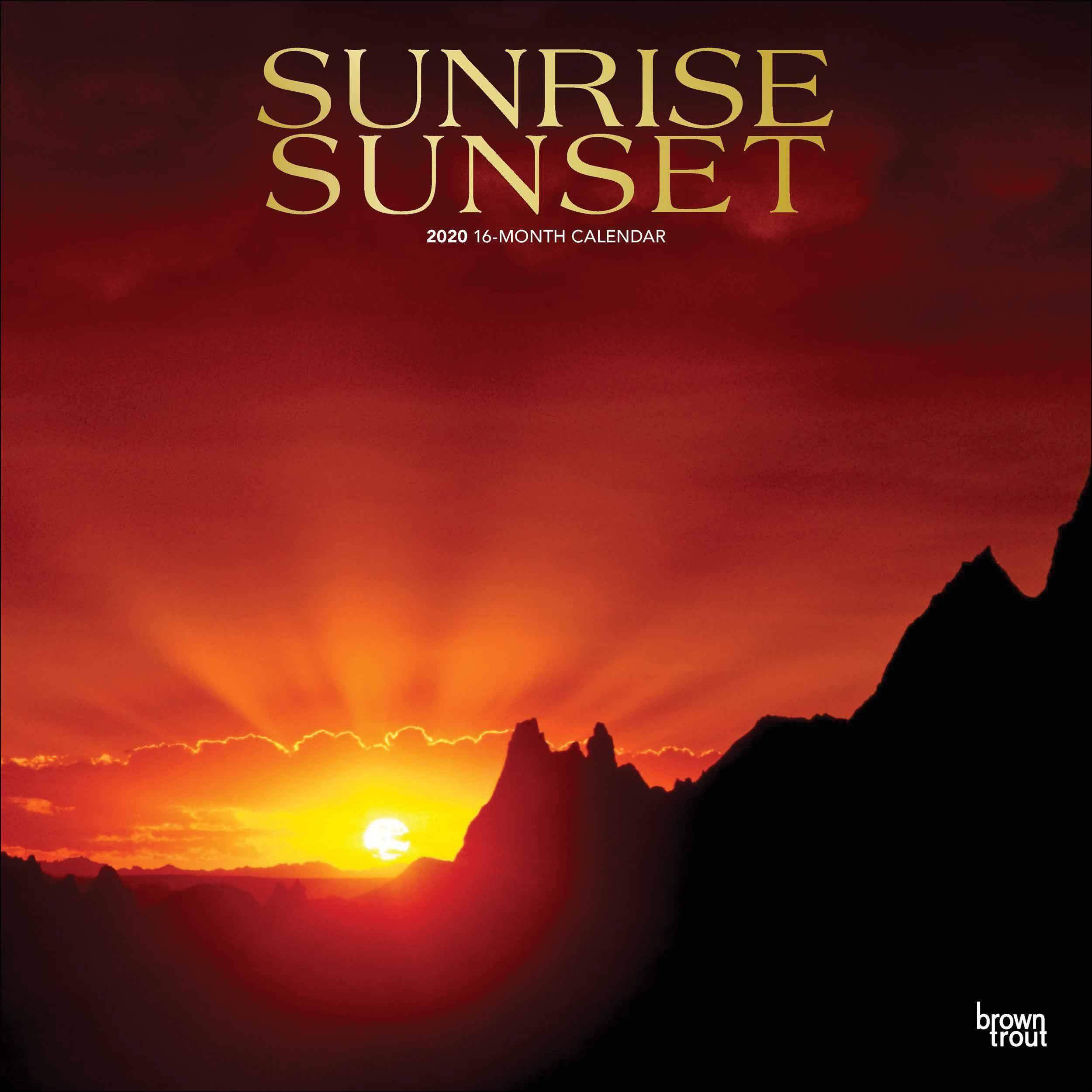 Sunrise Sunset Calendar 2020 At Calendar Club