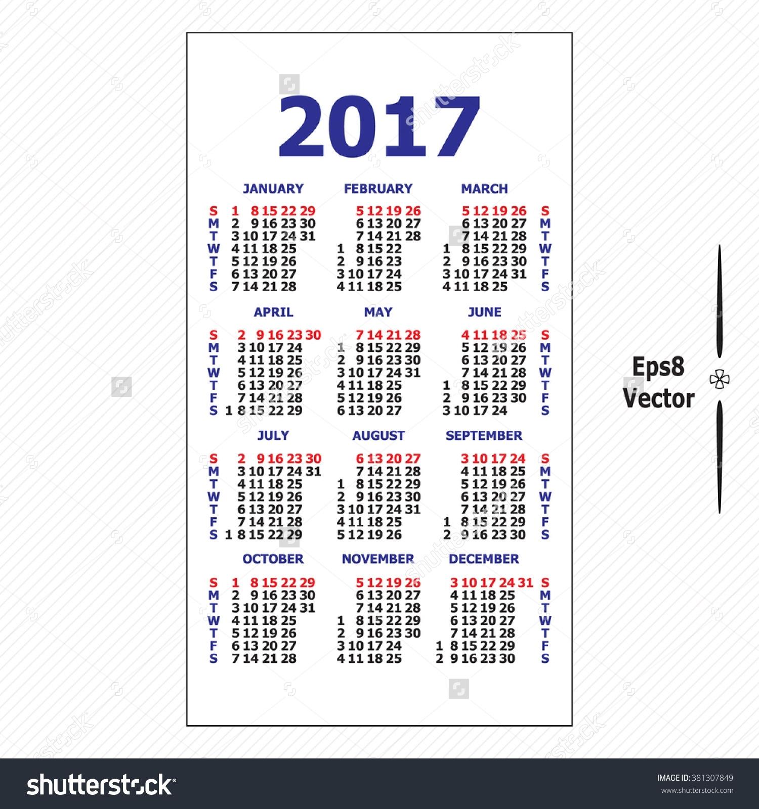 Template For Pocket Sized Calendar Calendar Inspiration