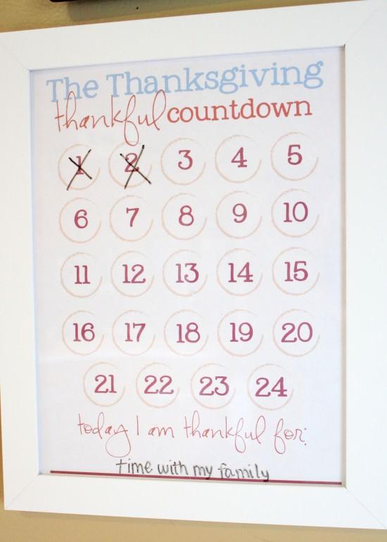 Thanksgiving Count Down Calendar 2 Free Printables Tip