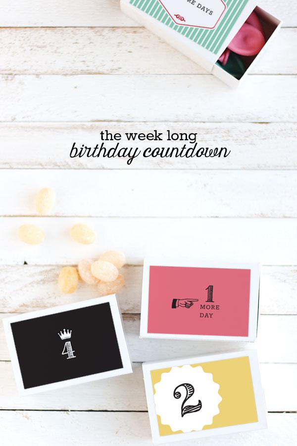 The Week Long Birthday Countdown