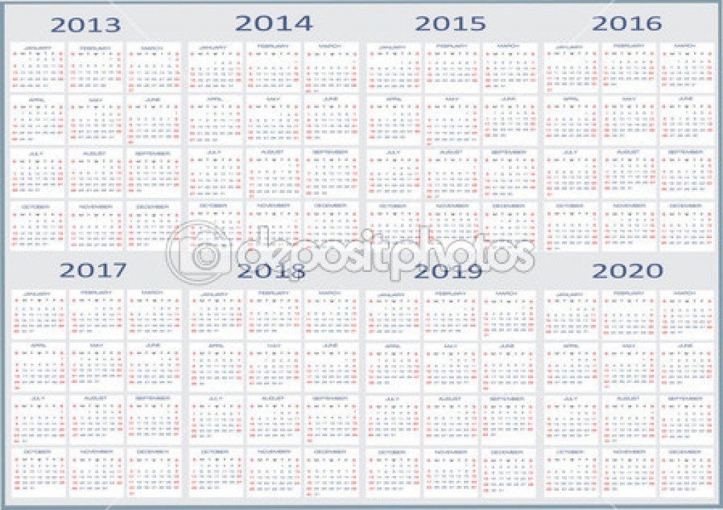 Unique 5 Year Calendar Printable Free Printable Calendar