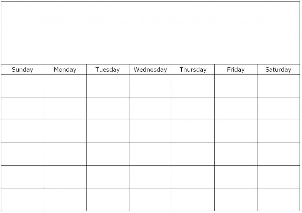 Weekly Calendar Fill In