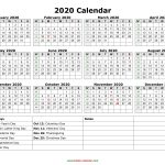 Yearly Calendar 2020 Free Download And Print Blank Monthly