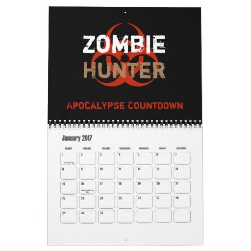 Zombie Hunter Apocalypse Countdown Calendar 2017 R